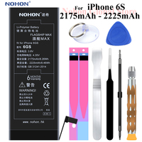 2018 NOHON Battery For Apple iPhone 6S iPhone6S 2175mAh 2225mAh Built in Phone High Real Max Capacity Li polymer + Tools+Package