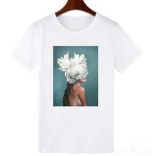 цена FIXSYS Hot Sales Women Girls T-shirts Fashion Graphic Printed Tops Summer Short Sleeves Cotton Tee Shirts в интернет-магазинах
