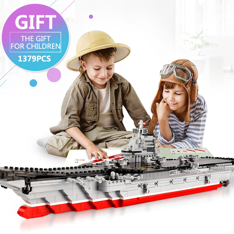 IN STOCK XINGBAO 06020 New 1355PCS Military Series The Aircraft Ship Set Building Blocks Bricks Toys Kids Toys Gifts Models kaygoo building blocks aircraft airplane ship bus tank police city military carrier 8 in 1 model kids toys best kids xmas gifts