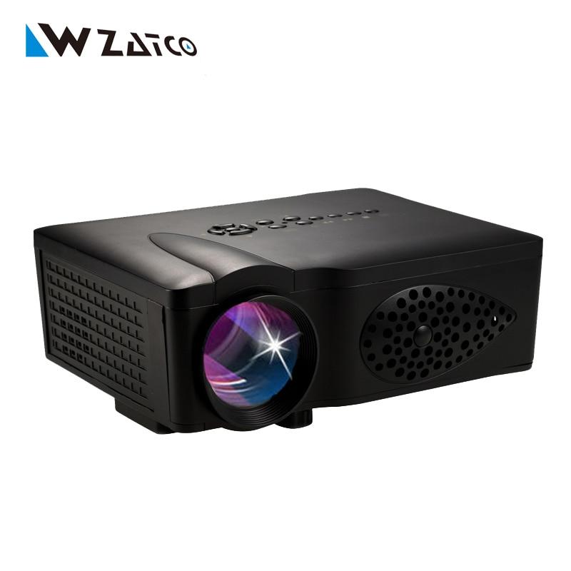 Hd 1080p Overhead Portable Mini Led Lcd Projector Pc Av Tv: 1600lumens Video Gm60 Bt140 HD 1080P Home LCD Theater LED