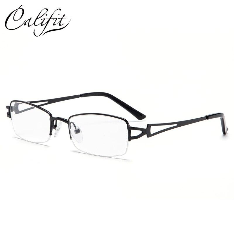CALIFIT Retro Half Frame Myopia Glasses Men Business Man High Quality Eyeglasses Astigmatism Transparent Lens Women Glasses New