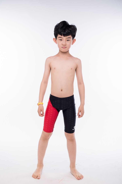 16b616ca45 ... Kids Professional Competitive Swim Trunks Boys Swimwear Boxer Board  Shorts Beach Diving Swimsuit Breathable Bathing Short ...