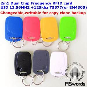 Key-Tag Clone-Backup Frequency-Rfid Dual-Chip Rewrite Copy T5577-125 Readable EM4305