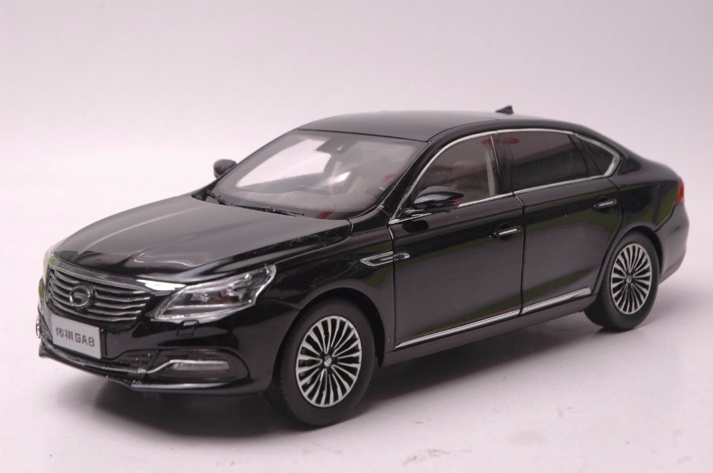 1:18 Diecast Model for GAC Trumpchi GA8 2016 Black Alloy Toy Car Miniature Collection Gifts China Brand 24v 1ch rf wireless remote switch wireless light lamp led switch receiver