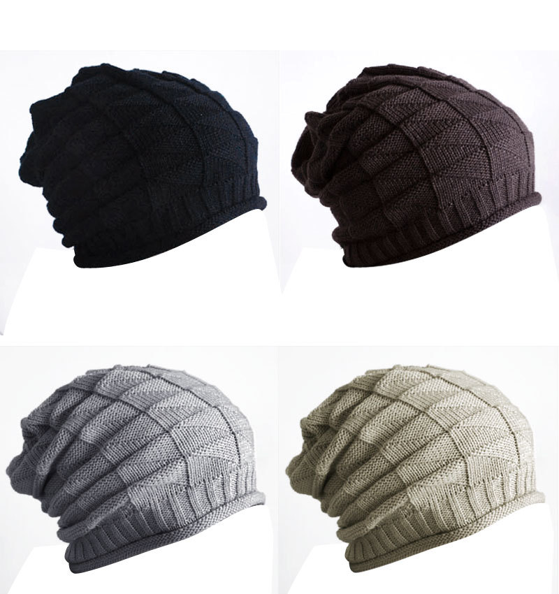 Hot New 2016 Winter Women Men Thick Warm Retro Cable Caps Unisex Knitted  Gorro Baggy Slouch Beanies Hats Cap touca Cheap Z2 cb9aea7a3c6
