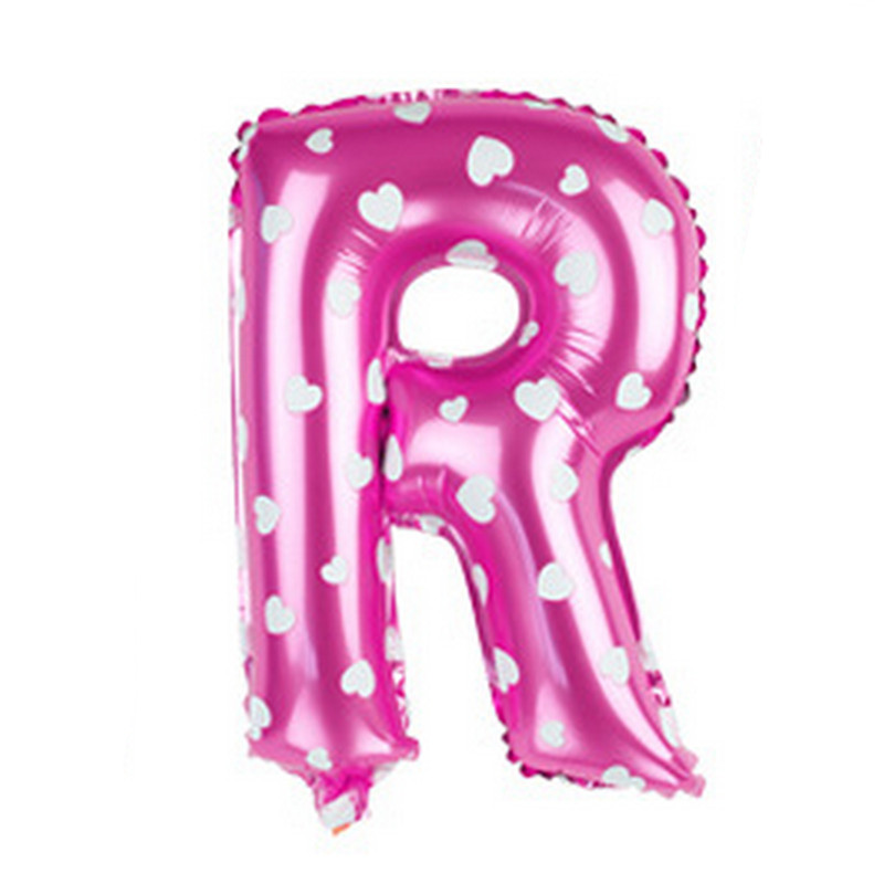 2016 Letter 16 Inch Pink Aluminum Balloon New Year Happy Birthday Wedding Party Decoration