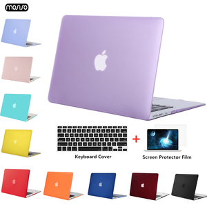 Image 1 - MOSISO Crystal/Matte Laptop Case For Apple Macbook Air 13 A1932 2018 Laptop Case Cover for Mac Air 13 inch Model A1466 A1369