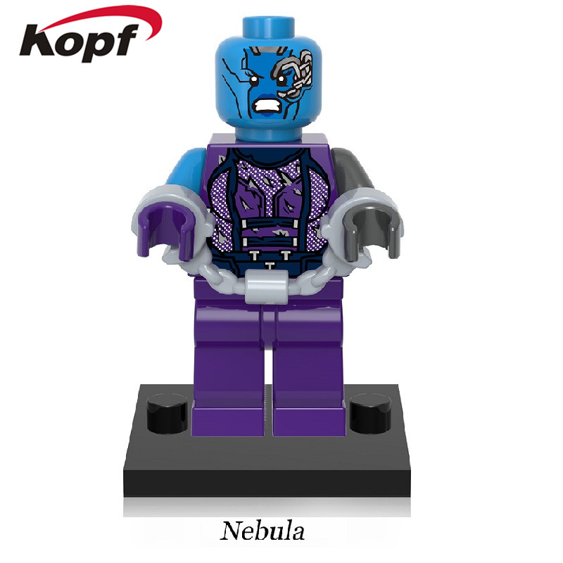 Single Sale Super Heroes Guardians of the Galaxy Nebula Drax the Destroyer Tree Man Building Blocks Children Gift Toys XH 608