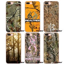 Для samsung Galaxy S2 S3 S4 S5 MINI S6 S7 edge S8 S9 Plus Note 2 3 4 5 8 Coque Fundas Красочный розовый Realtree Camos Art мягкий чехол(China)
