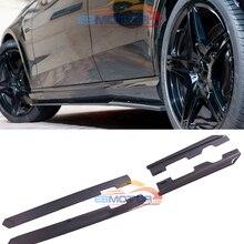 Реальные углеродного волокна боковые юбки спойлер сплиттер 4 шт./компл. для Benz W212 E63 AMG 11-14 M140