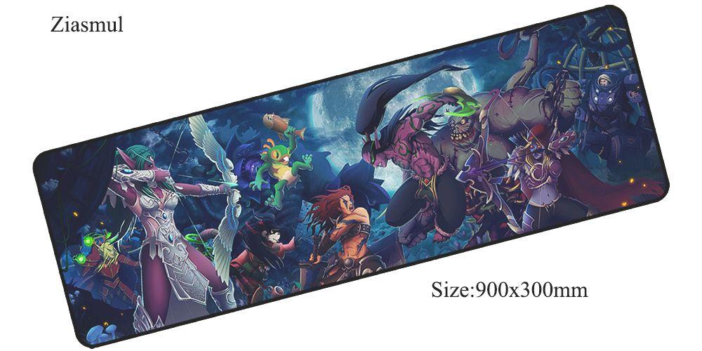 Héros de la Tempête souris pad 900x300x3mm pad pour la souris notbook ordinateur tapis de souris jeux à domicile padmouse gamer clavier souris tapis