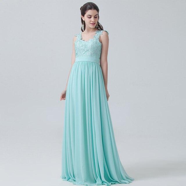 bfe734bc80 US $98.0 |Latest Design Custom Made Sleeveless Mint Green Lace Chiffon  Bridesmaid Dresses Long Elegant Women Vestido De Festa Longo RWB10-in ...