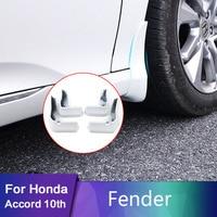 4pcs/set For Honda Accord 10th 2018 2019 Car Styling Front Rear Plastic Splash Guards Mud Flap Mudguards Fender Cover Accessori