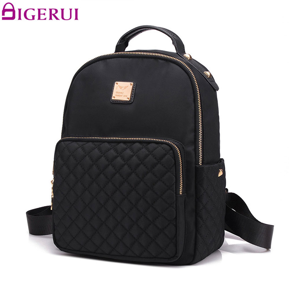 DIGERUI Backpack Female Leather Women Travel Black School Backpacks Female Shoulder Bag Ladies Student Bag Rucksack A2217 girsl kid backpack ladies boy shoulder school student bag teenagers fashion shoulder travel college rucksack mochila escolar new