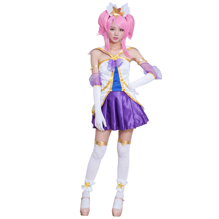 New Arrival Game LOL Cosplay Costumes Full Set Star Guardian Magical Girl Janna With Top Skirt And Acessories Cosplay Costumes