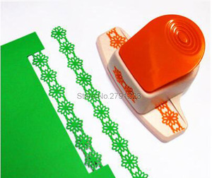 Image 2 - 2017 New Large Fancy Flower Border Punch Edge of the embossing machine handmade device DIY paper cutter Handmade scrapbooking