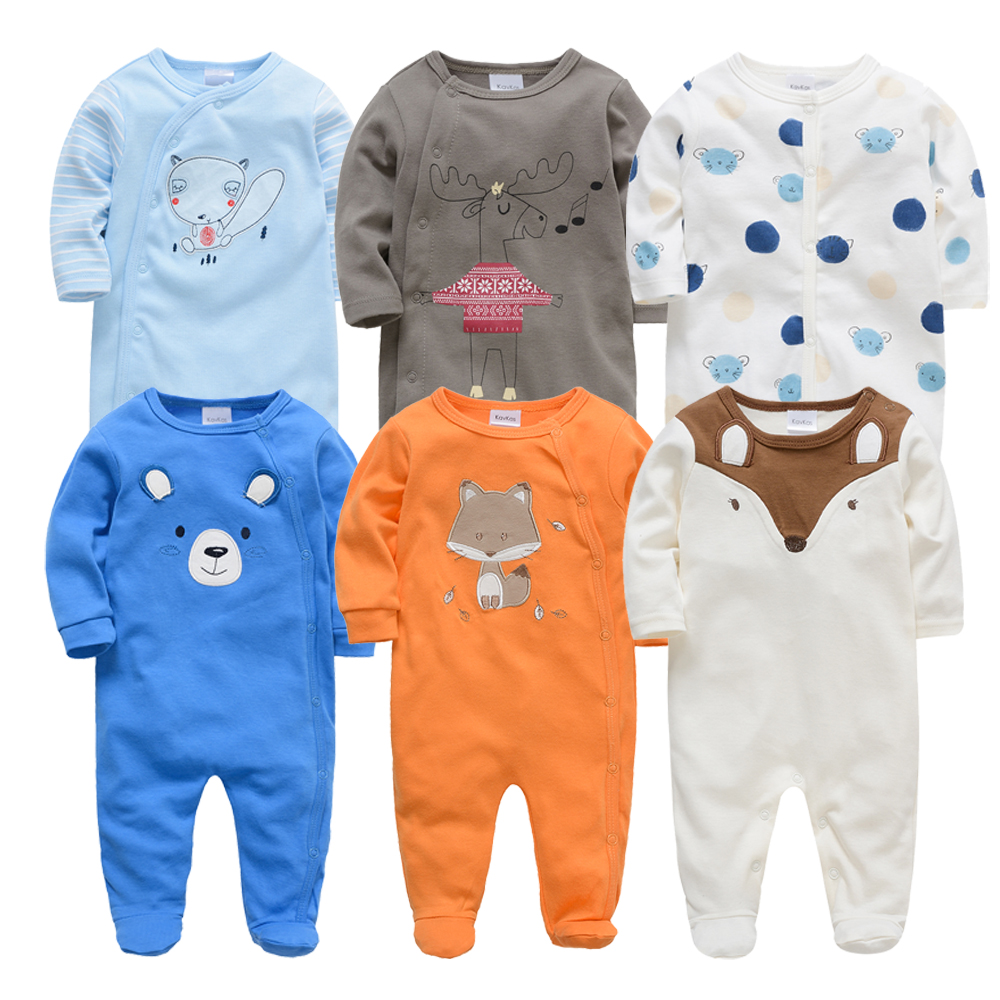 2019 6 Pcs/lot Baby Rompers Roupa De Bebes Newborn Baby Boys Girls Clothes Summer Cotton 3 6 9 12 Months Infant Overall Clothing