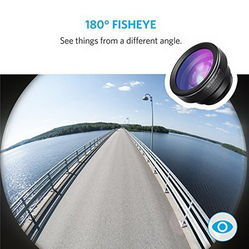 Universal Fish Eye 3in1 + Clip Fisheye Smartphone Camera Lens Wide Angle Macro Mobile Phone Lents blue as picture 9
