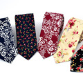 Fashion Unique Male Mens Narrow Tie Formal/Casual Floral Print Gravatas Neck Tie Bridegroom Groomsman Apparel Accessories S3579