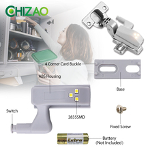 CHIZAO LED Under Cabinet Light Universal Wardrobe Light Sensor LEDs Armario Hinge Inner Lamp For Cupboard Closet Kitchen