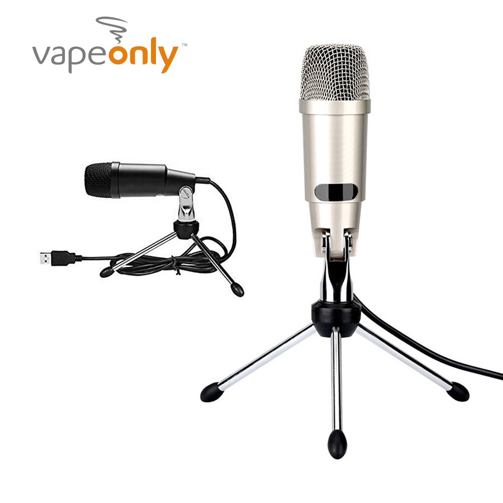 vapeonly usb condenser wired microphone sound recording mic with stand for pc computer chatting. Black Bedroom Furniture Sets. Home Design Ideas