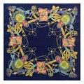 60 см * 60 см шелковой саржи H веревка бахромой леди шелковый шарф небольшой площади