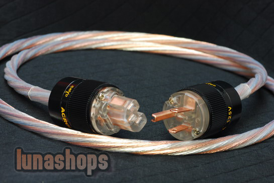 Custom Handmade Acrolink Hifi Silver Plated Power cable For Tube amplifier CD Player LN002809