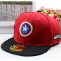 Moda hip-hop star children sombrero bordado gorra de béisbol del snapback de la moda rojo bebé embroma el casquillo ajustable primavera tapa ocasional