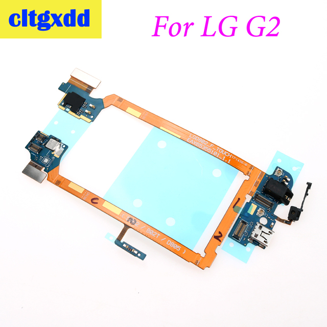 Cltgxdd conector de muelle para LG G2 D802, puerto de carga, cable flexible USB, Conector de auriculares, micrófono, botón de encendido/apagado