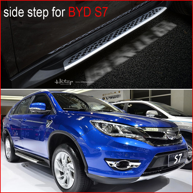 Newest side steps nerf bar side bar running board for BYD S6 S7.has insured by ISO9001 PICC company,most famous in china.
