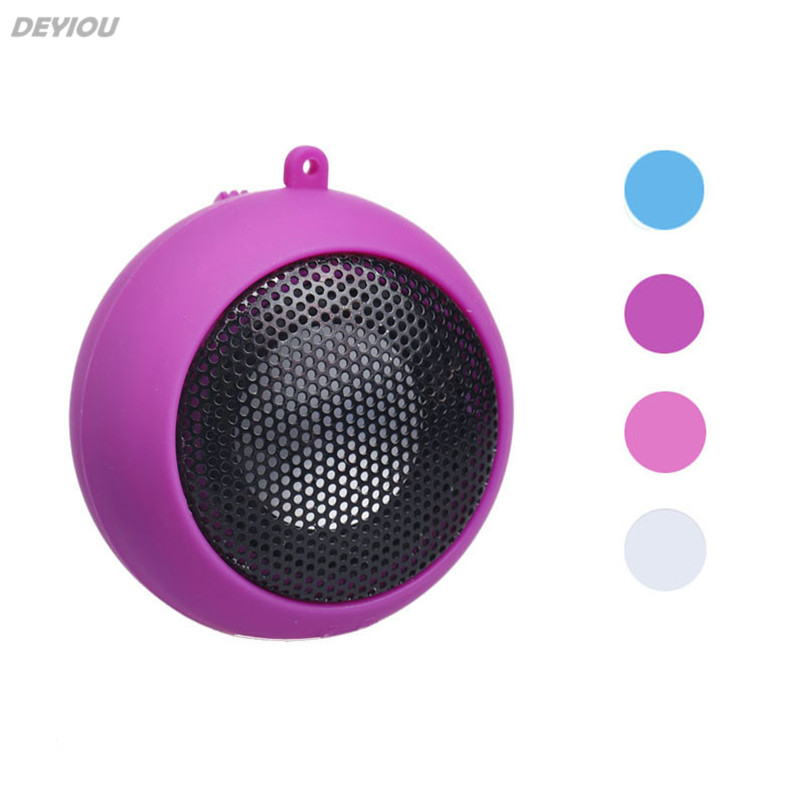 DEYIOU Mini Portable Hamburger Speaker Amplifier Music Loudspeaker HI-FI For iPod For iPad Laptop iPhone Tablet PC Wholesale