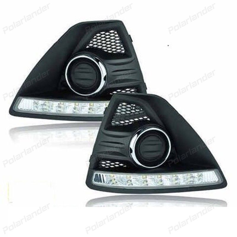 1 pair auto turn signal lamps For  F/ord F/ocus 2009-2011 car stylng daytime running lights