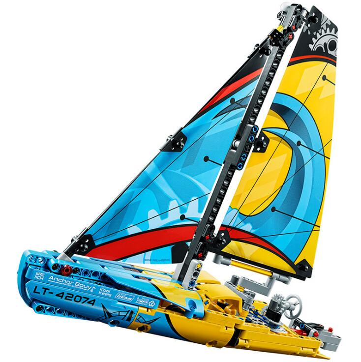 Lepin 20074 Technic Series The Racing Yacht Set 42074 Building Blocks DIY Bricks Educational Toys Model For Children lepin 20031 technic the jet racing aircraft 42066 building blocks model toys for children compatible with lego gift set kids