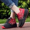 Aimoge 2017 niños zapatilla de rodillos con una rueda patines niños girls shoes