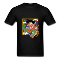 Cool Design Dragon Ball Z Tshirt Moda Cornice del Viso Di Capretto Son Goku T Shirt Stile Anime Tee Ride On Verde Dio Drago Mens T Shir