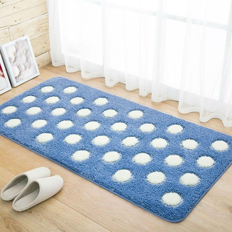 Tapis d'entrée en plein air doux tapis Shaggy tapis chambre salle de bain tapis antidérapants tapis