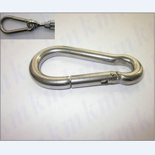 100PCS/LOT M5X50MM small stainless steel carabiner spring DIN5299C snap hooks