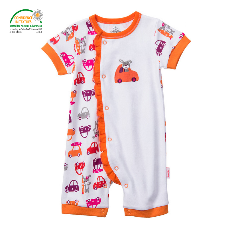 Colorful Baby Bodysuits Short Sleeves 100 cotton Infant Girls Bodysuits Spring Summer Autumn Newborn Kids Clothing