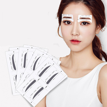 64pcs/set Eyebrow Stencil Template Stickers Grooming Brow Painted Model Easy To Use DIY Beauty Make Up Tools Accessories