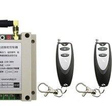 AC220V 250 В 380 В 30A 2ch Дистанционное управление двери гаража РФ Беспроводной Дистанционное управление переключатель Системы 3x передатчик+ 1 х приемника