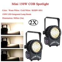 2 قطعة/الوحدة الموسيقى DJ تأثير الإضاءة البسيطة 150 W COB الأضواء DMX512 LED الاسمية أضواء للمسرح للديسكو بار الصوت حزب مصابيح الزفاف