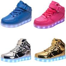 2017 Fashion Kids Glowing Sneakers Led Children Lighting Shoes Boys Girls illuminated Shining Luminous Warm Sneaker with light