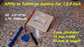 Новая Батарея 5500 мАч Литий-Ионный Tablet pc аккумулятор Для 7,8, 9 9-дюймовый планшетный ПК ICOO 3.7 В Полимерная литий-ионных Батарей С Высокой качество