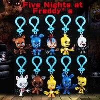 10 Pçs/set Novos Brinquedos Le Personagens das Cinco Noites no Freddy fantoche de Dedo do Anel Chave Freddy FNAF Action Figure Toy Kids presente