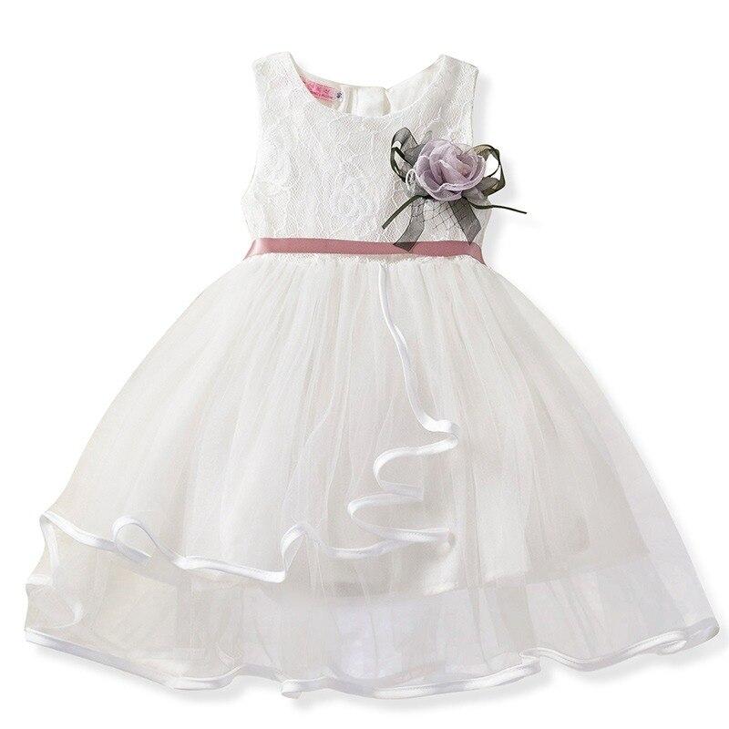 1dcca97e8 Lindo vestido de encaje para niñas pequeñas vestido de flores para princesa vestidos  de fiesta para