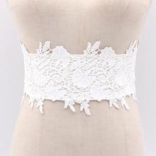 Fashion Black Wide Corset Tie Lace Elastic Belt For Women Wedding Dress