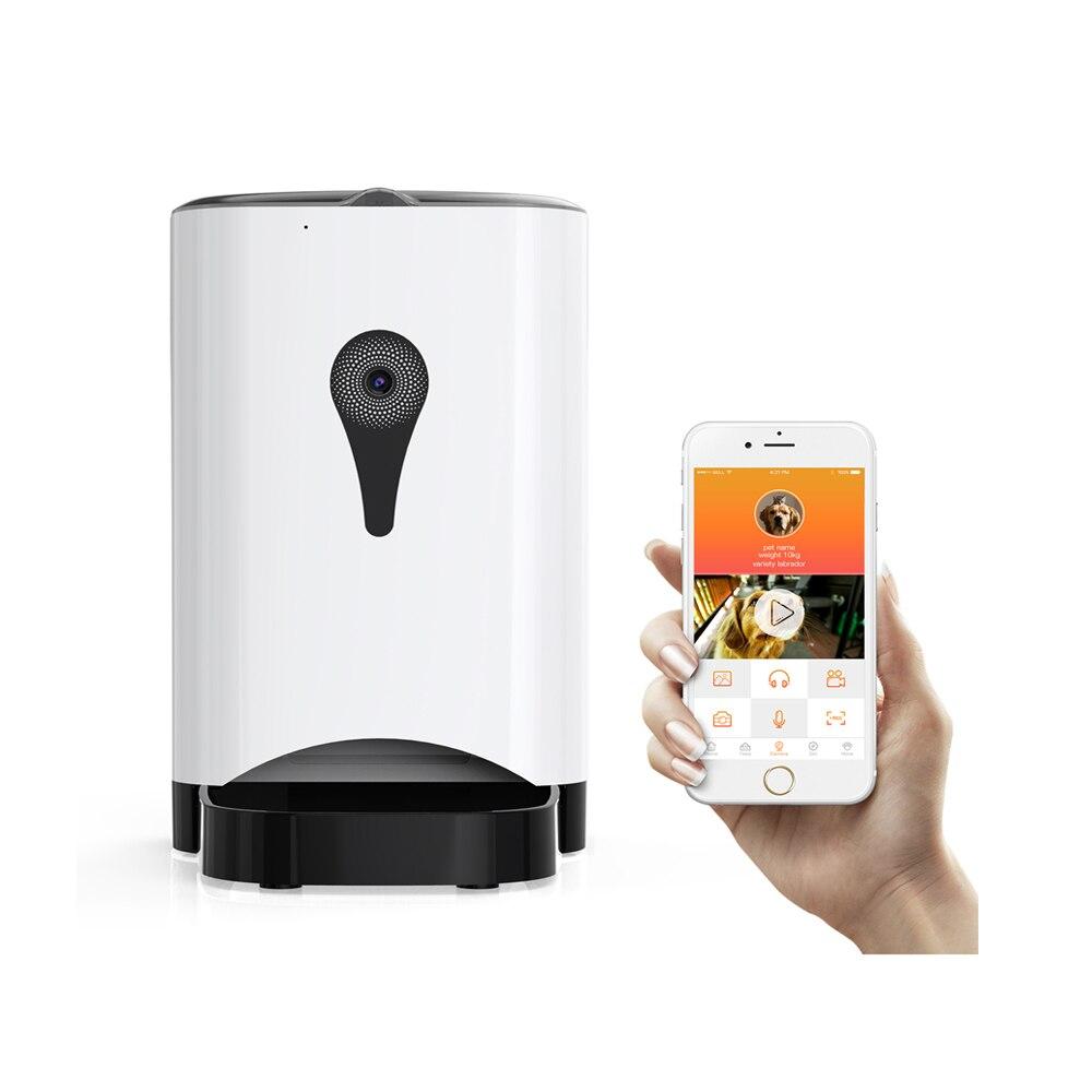 Haute Qualité 4.5L Pet Feeder Wifi Télécommande Mode Intelligent Automatique Pet Feeder Chiens Chat Alimentaire Rechargeable Avec Moniteur Vidéo