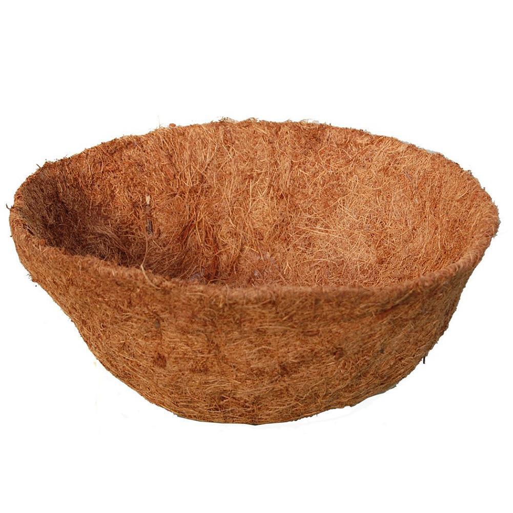 1PC Round Coco Fiber Replacement Liner Flower Pot Orchid Balcony Planting Coconut Palm Wall Hanging Flower Pot 4
