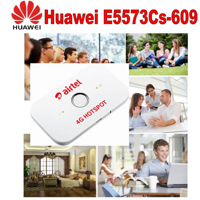 100pcs/lot Unlocked 150Mbps LTE FDD 4G Pocket WiFi Router Huawei E5573 E5573Cs-609