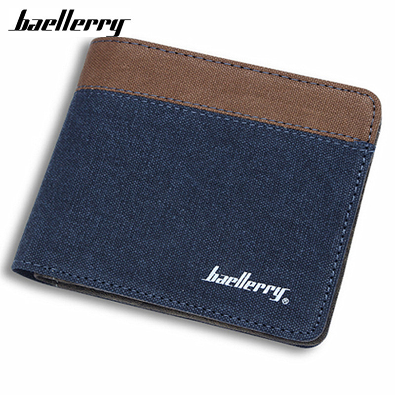 цены Baellerry Men Wallets 2017 Canvas Wallet Purses Men's Wallets Carteira Masculine Billeteras Porte Monnaie Monedero Famous Brand